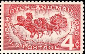 overland mail stamp