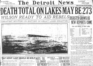 detroit news 1913 great lakes storm headline