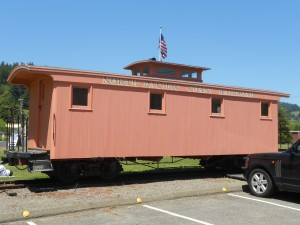 narrow gauge railroad caboose