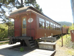 north pacific coast railroad wooden coach railcar