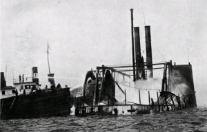 burned wreckage of steamboat general slocum