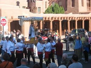 santa fe fiesta procession