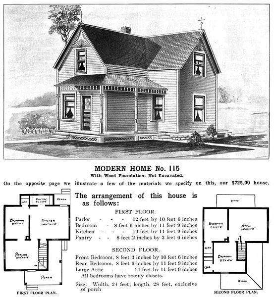 Sears houses trips into history historic sites for Modern house history