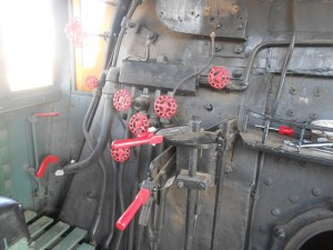 steam locomotive controls