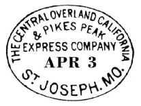 overland stage company stamp