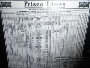 frisco passenger train schedule