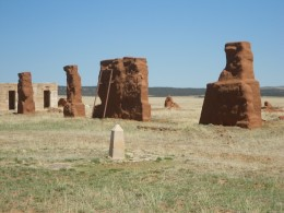 adobe ruins at fort union new mexico