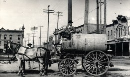horse drawn fire wagon