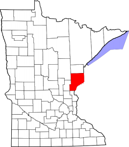 pine county minnesota map