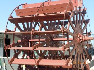steamboat paddle wheel