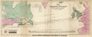 first atlantic telegraph cable route