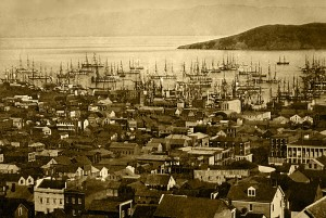 san francisco harbor during gold rush