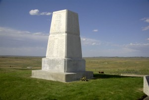 little bighorn memorial marker