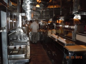 santa fe railroad dining car kitchen
