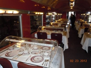 santa fe railroad dining car china