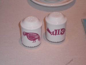 santa fe railroad mimbres salt and pepper shaker