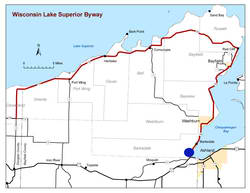 lake superior scenic byway map