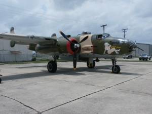 mitchell b-25 bomber yellow rose